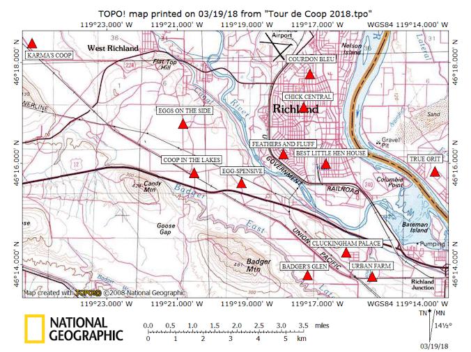 Tour de Coop Map 2018